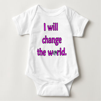 Change the World Pink Baby Bodysuit