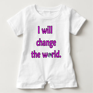 Change the World Pink Baby Romper