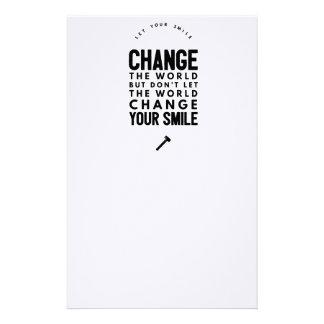Change the world stationery
