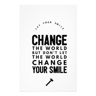 Change the world stationery design