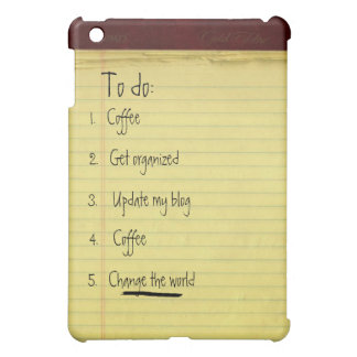 Change the World To-Do List iPad Mini Case