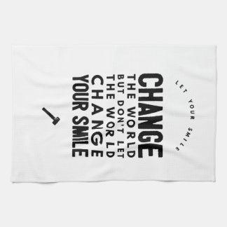 Change the world towels