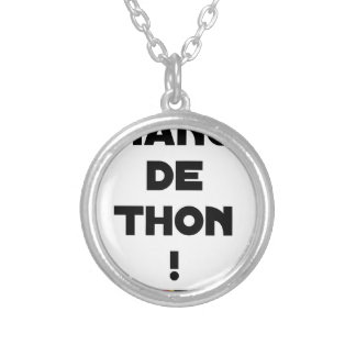CHANGE TUNA! - Word games - François City Silver Plated Necklace
