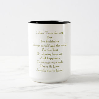 CHANGE Two-Tone COFFEE MUG