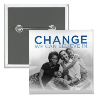 CHANGE WE CAN BELIEVE IN 2 INCH SQUARE BUTTON