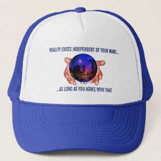 Change Your Reality Esoteric Mystic Magic Globe Trucker Hat