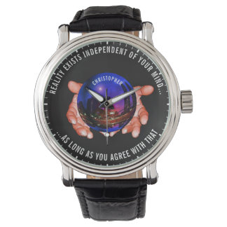 Change Your Reality Esoteric Mystic Magic Globe Wristwatch