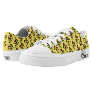 CHANGEABLE BACKGROUND-FLOWER Low-Top SNEAKERS