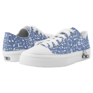 CHANGEABLE BACKGROUND-MUSIC NOTES-1 Low-Top SNEAKERS
