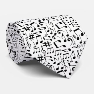 CHANGEABLE COLOR BACKGROUND MUSIC NOTES TIE