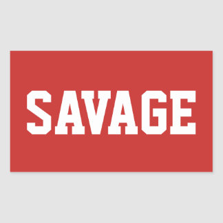 Changeable Color Red and White SAVAGE Stickers