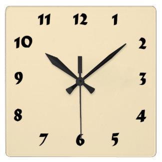 Changeable Numbered Cream Ecru Clock