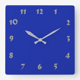 Changeable Numbered Royal Blue Clock
