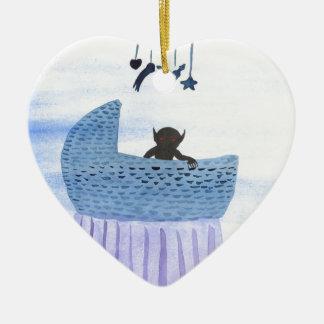 Changeling Child Ceramic Heart Ornament