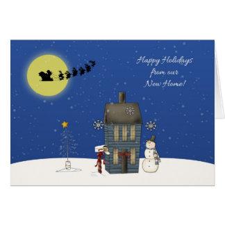 Changement d adresse scène de neige salutation d cartes de vœux
