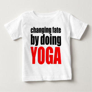 CHANGING FATE doing yoga lazy workout wife husband Baby T-Shirt