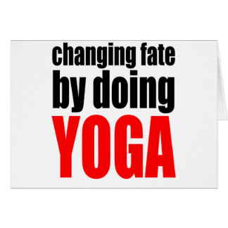 CHANGING FATE doing yoga lazy workout wife husband Card