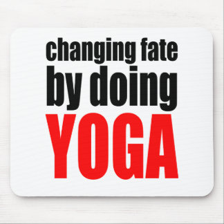 CHANGING FATE doing yoga lazy workout wife husband Mouse Pad