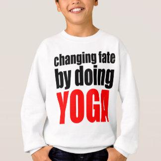 CHANGING FATE doing yoga lazy workout wife husband Sweatshirt