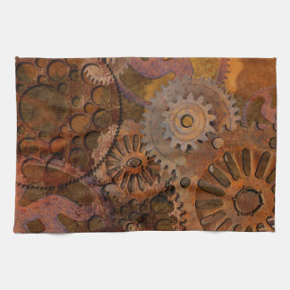 Changing Gear - Steampunk Gears & Cogs Towels