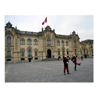 Changing of the Guard, Lima, Peru Postcard