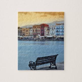 Chania at dusk, Chania, Crete, Greece Puzzle