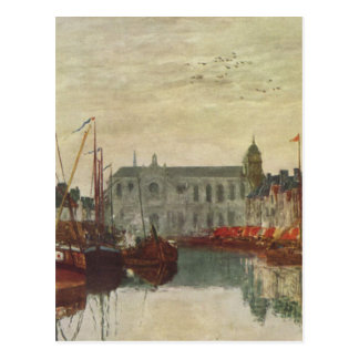 Channel in Brussels by Eugene Boudin Postcard