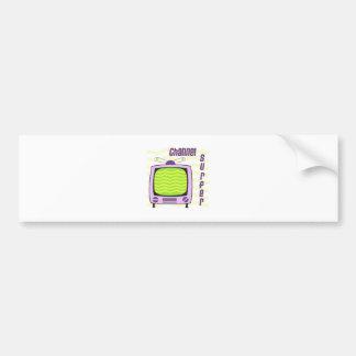 Channel Surfer Bumper Sticker