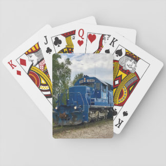 Channing, MI Blue Train Playing Cards