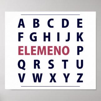 Chanson d'Alphapbet ELEMENO de l'anglais Poster