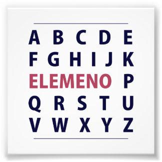 Chanson d'Alphapbet ELEMENO de l'anglais Tirage Photo