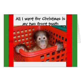 Chant de Noël de bébé d'orang-outan Cartes