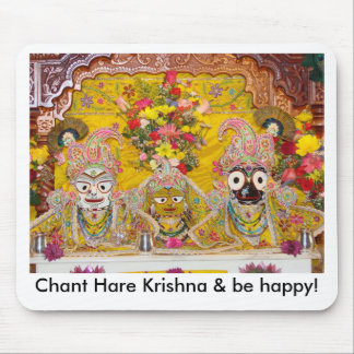 Chant Hare Krishna & be happy! Mouse Pad