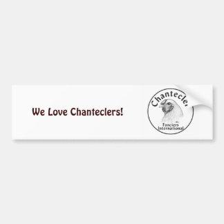 Chantecler Fanciers Logo Bumper Sticker