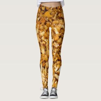 Chanterelles mushrooms leggings