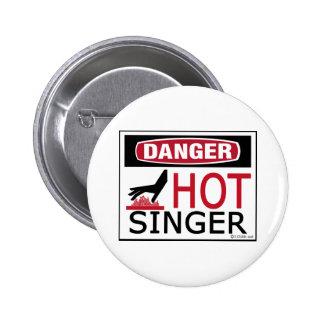 Chanteur chaud macaron rond 5 cm