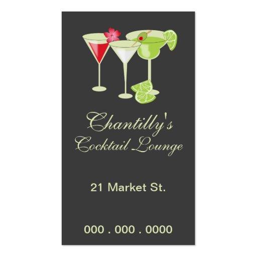 Chantilly Cocktail/Bartending Biz Card Business Card Templates