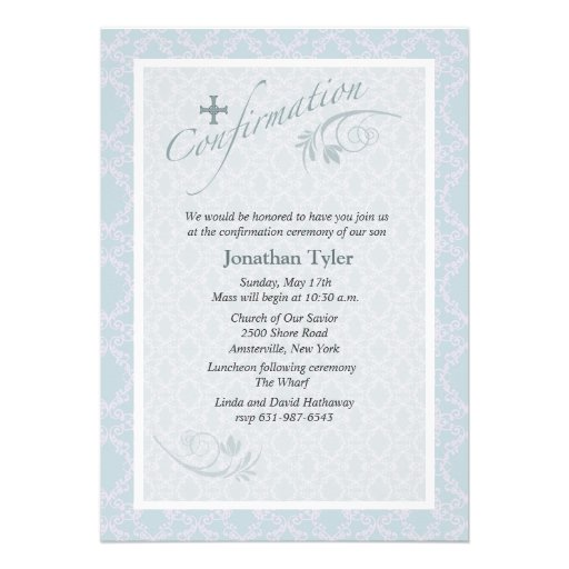 Chantilly Religious Confirmation Invitation