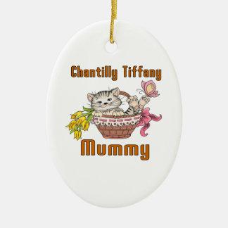 Chantilly Tiffany Cat Mom Ceramic Ornament
