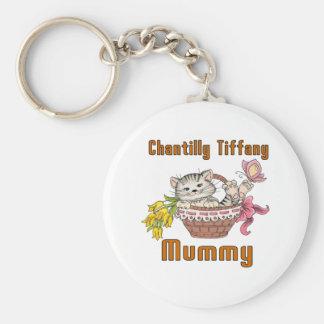 Chantilly Tiffany Cat Mom Keychain