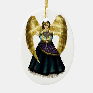 Chanukah Angel Ceramic Ornament