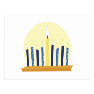 Chanukah Candles Post Card