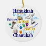 Chanukah Collage/Light the Lights Christmas Tree Ornament