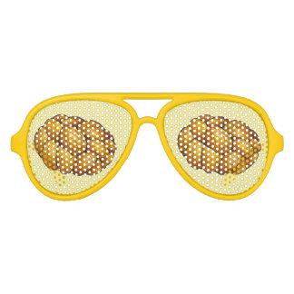Chanukah Hanukkah Braided Challah Bread Holiday Aviator Sunglasses