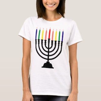 Chanukah Rainbow Menorah T-Shirt