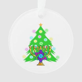 Chanukkah and Christmas Ornament