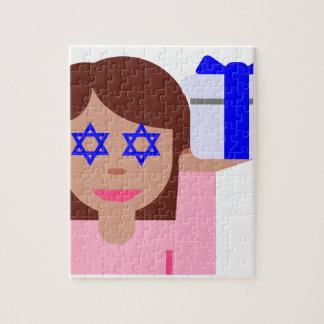 chanukkah hair flip emoji jigsaw puzzle