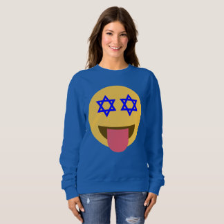 chanukkah hanukkah emoji womens sweatshirt