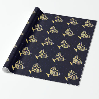 Chanukkah Menorah Wrapping Paper