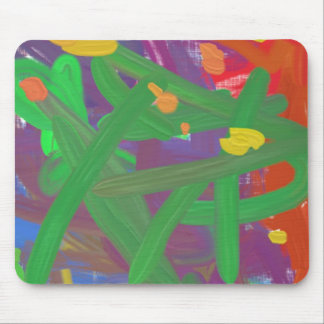 Chaos abstract pattern mouse pad